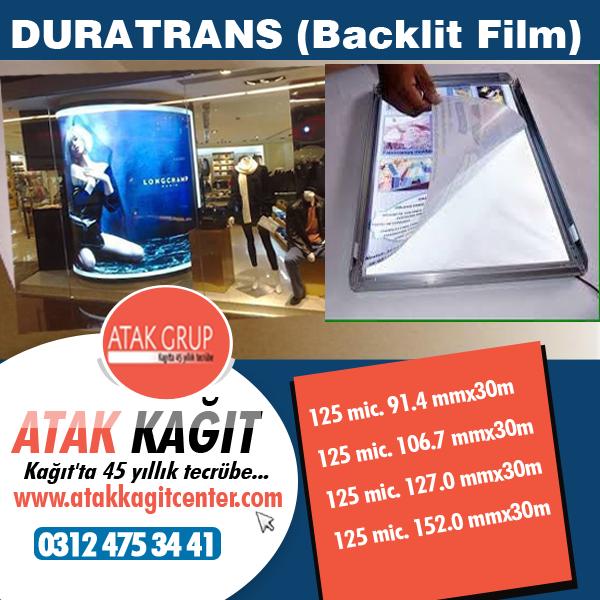 Atak kağıt Backlit Film ( Duratrans)